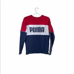 Puma Red Colour Block Sweatshirt